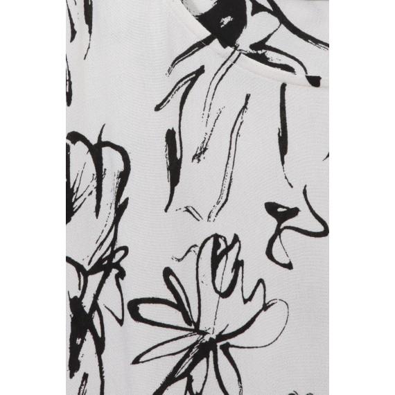 Luftiges Blusen-Shirt mit floralem Muster /