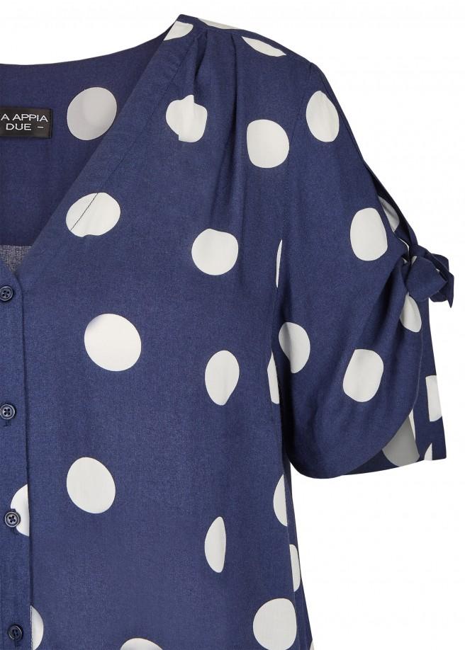 Süße Bluse mit Punktmuster /