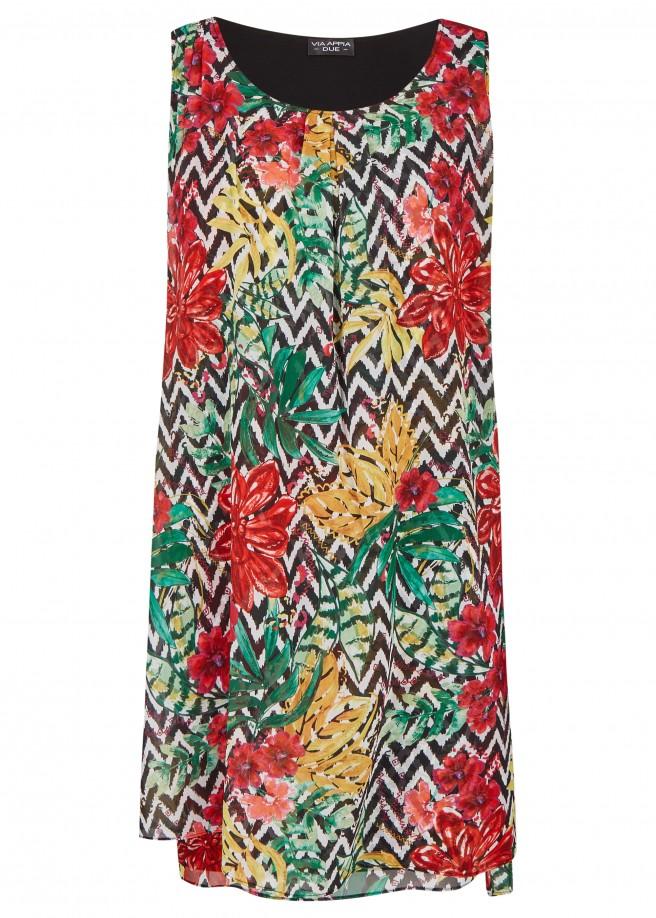 Sommerliches Kleid mit Muster-Mix /