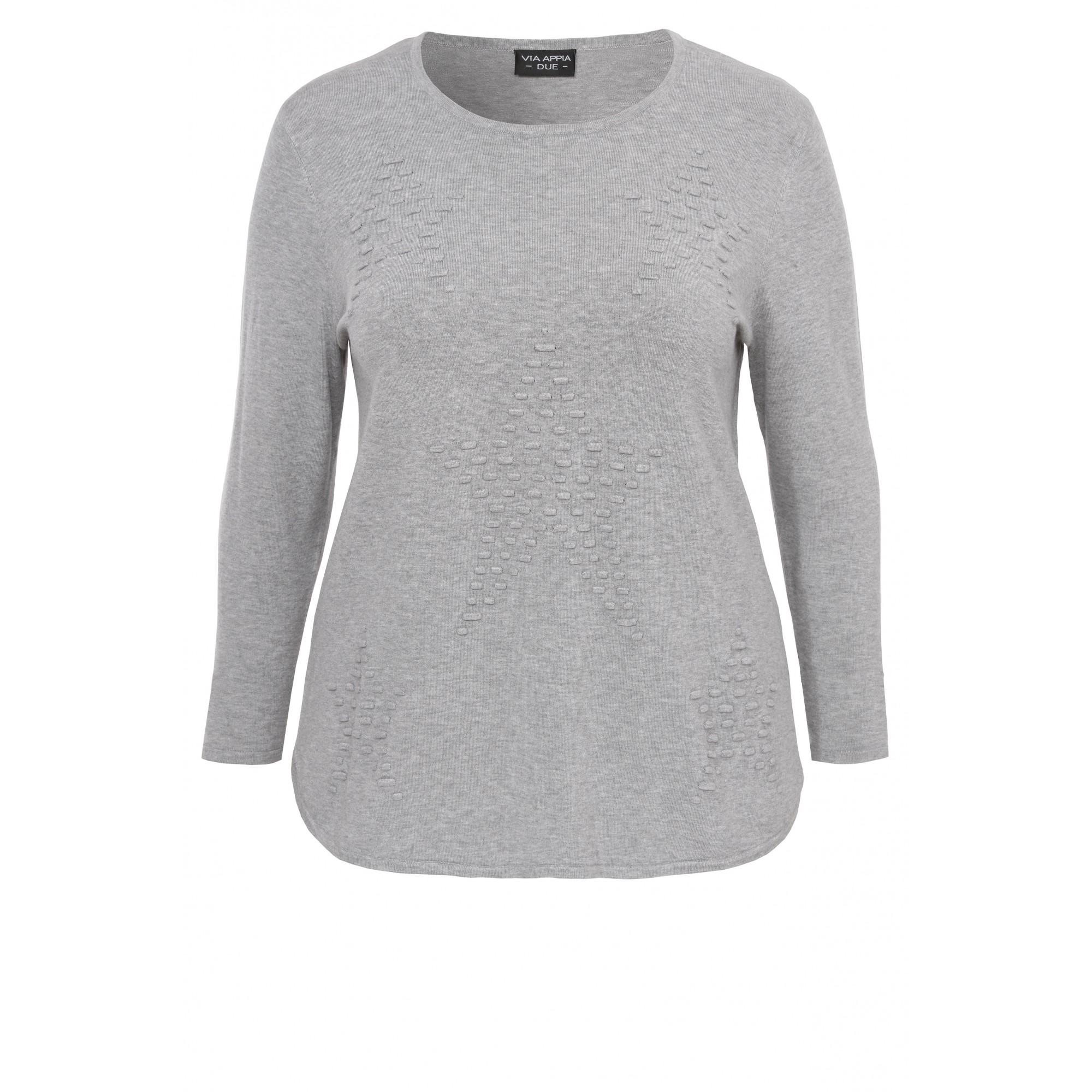 Femininer Pullover mit Struktur-Muster