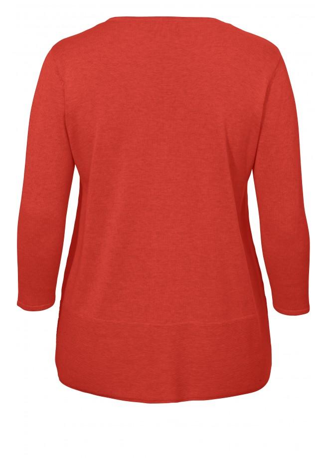 Gemütlicher 3/4-Pullover mit Tasche /