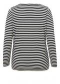 Ringel-Pullover mit U-Boot-Ausschnitt /