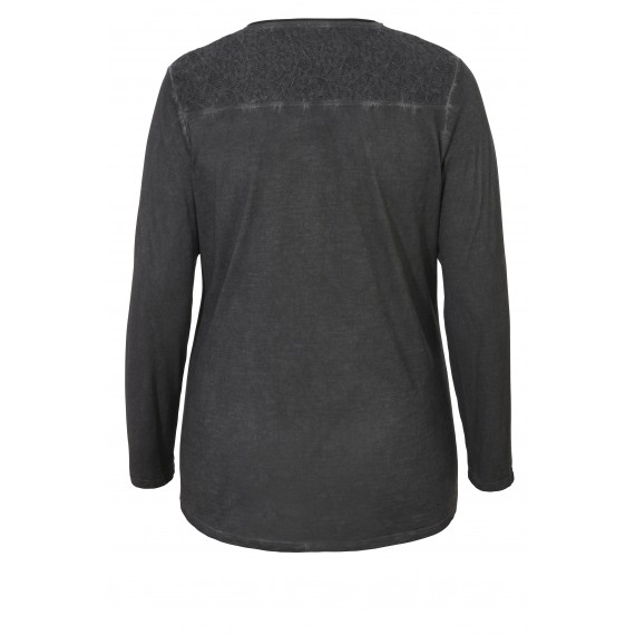 Vintage-Shirt mit Strass und Spitze /