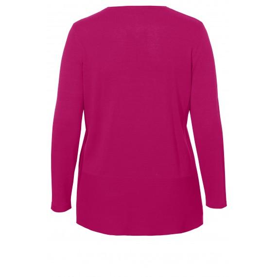 Femininer Pullover mit Struktur-Mix /