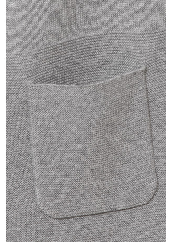 Feminine Strick-Jacke mit Taschen /