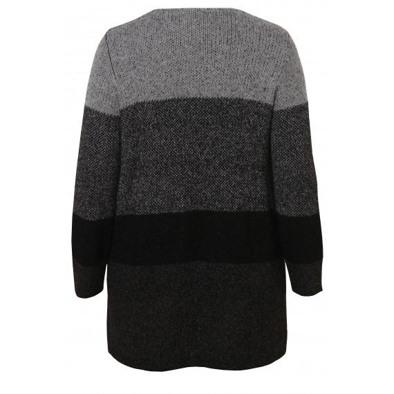 Kuschelige Strick-Jacke mit Farbverlauf /