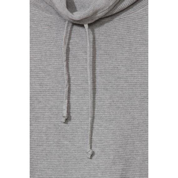 Lässiger Rollkragen-Pullover mit Struktur-Streifen /