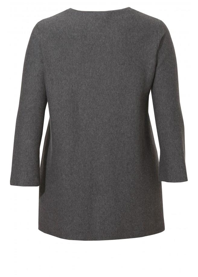 Modischer Pullover mit Knopf-Details /