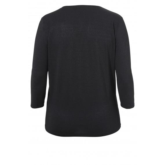 V-Shirt mit Schimmer-Effekt /