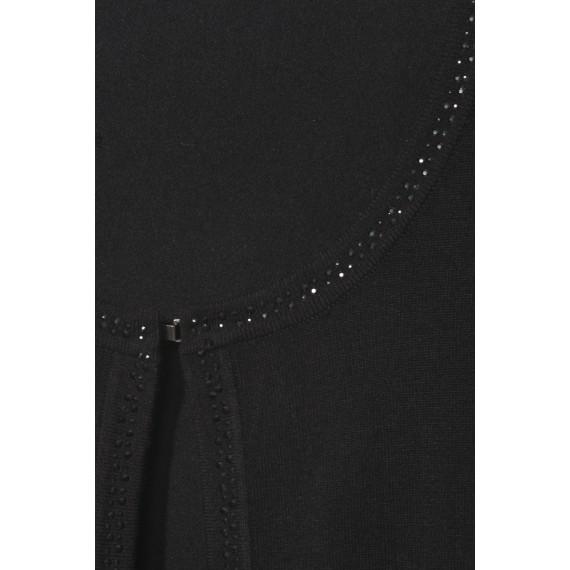 Edle Strick-Jacke mit Ziersteinchen /