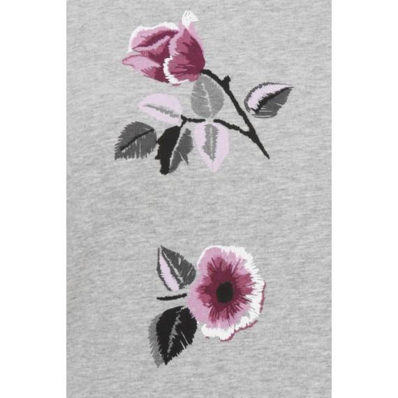 Feminines Sweatshirt mit floralem Print /