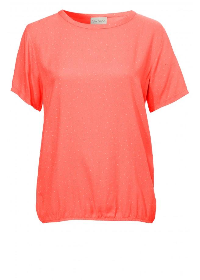 Casual Basic-Shirt mit Gummibund /