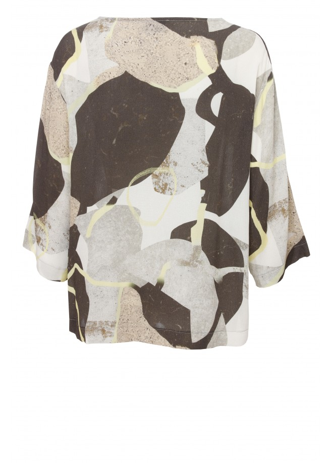 Modische Bluse mit Allover-Print /