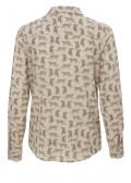 Verspielte Bluse mit Leoparden-Print /
