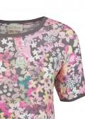 Zarte Bluse mit floralem Muster /