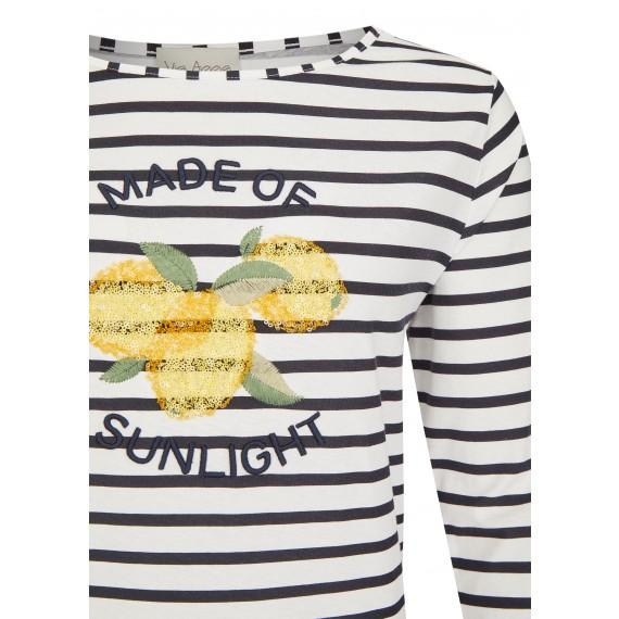 Sommerliches Shirt mit Pailletten-Motiv /
