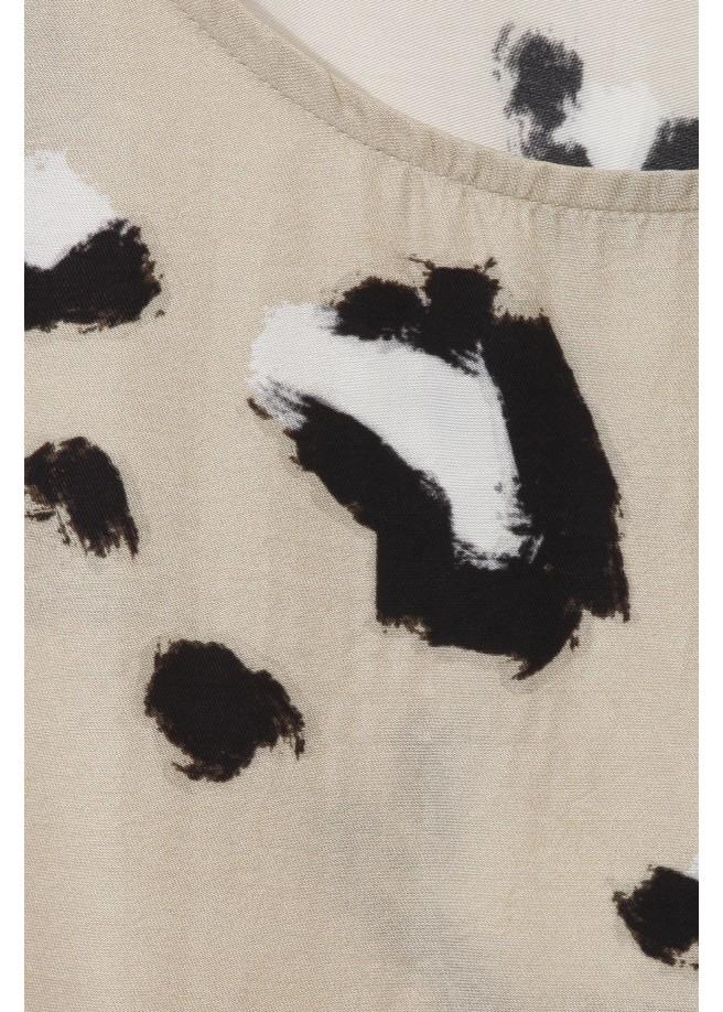 Wildes Blusen-Shirt mit Animalprint /