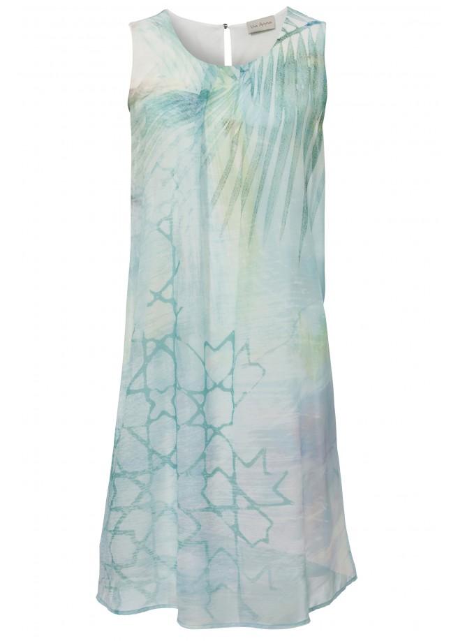 Sommerliches Kleid mit Motivprint /