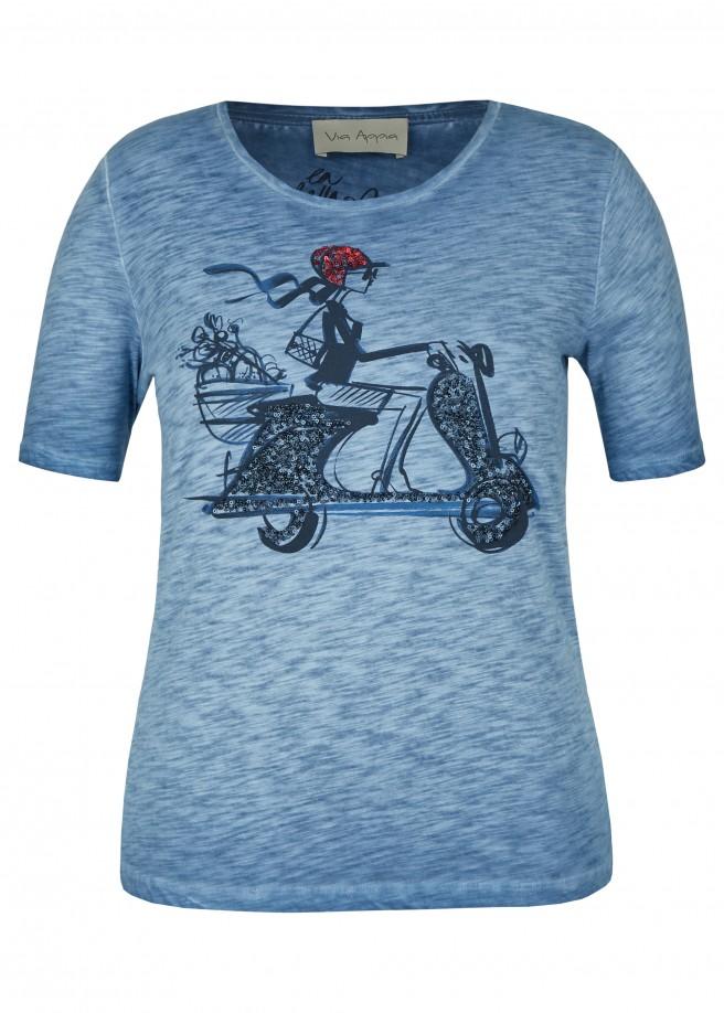 Luftiges T-Shirt mit Front-Motiv /