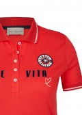 Sportives Polo-Shirt mit Schrift /