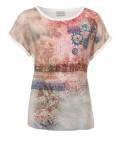 Luftiges Shirt mit Front-Print /