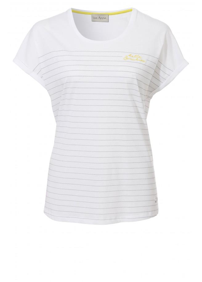Leichtes Shirt mit Linienmuster /