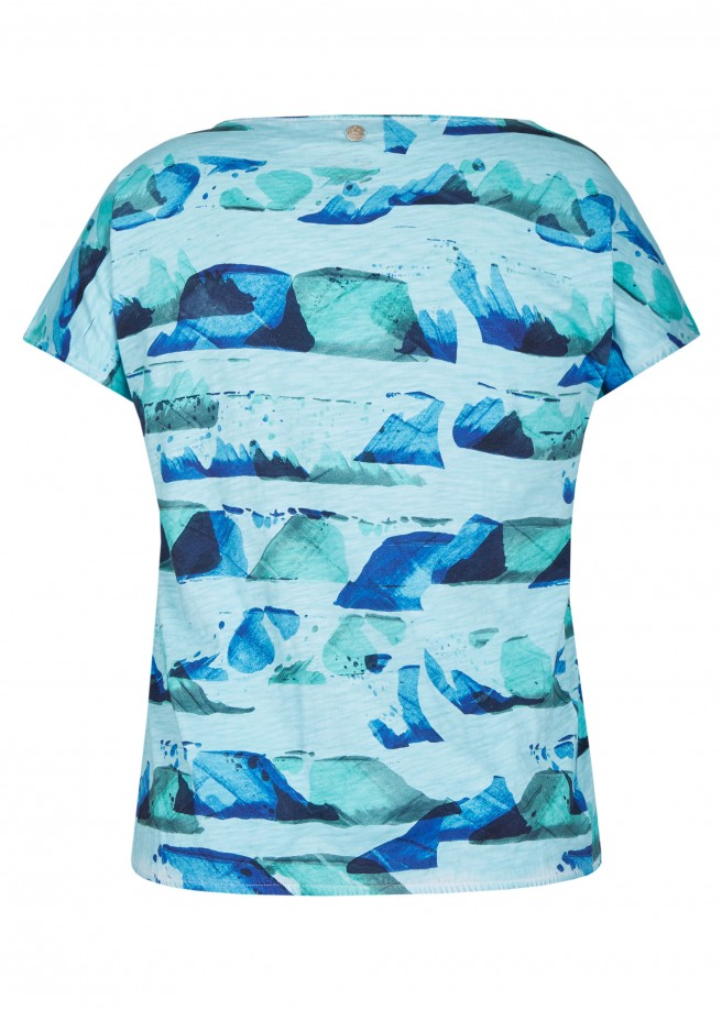 Luftiges Shirt mit Grafik-Print /