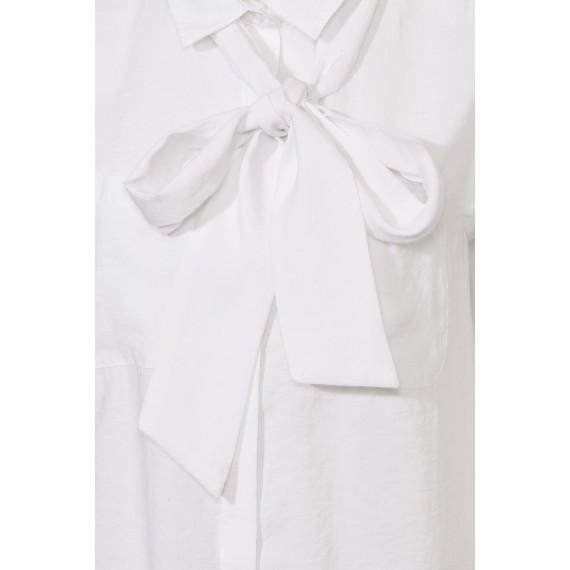 Elegante Bluse mit abnehmbarem Band /