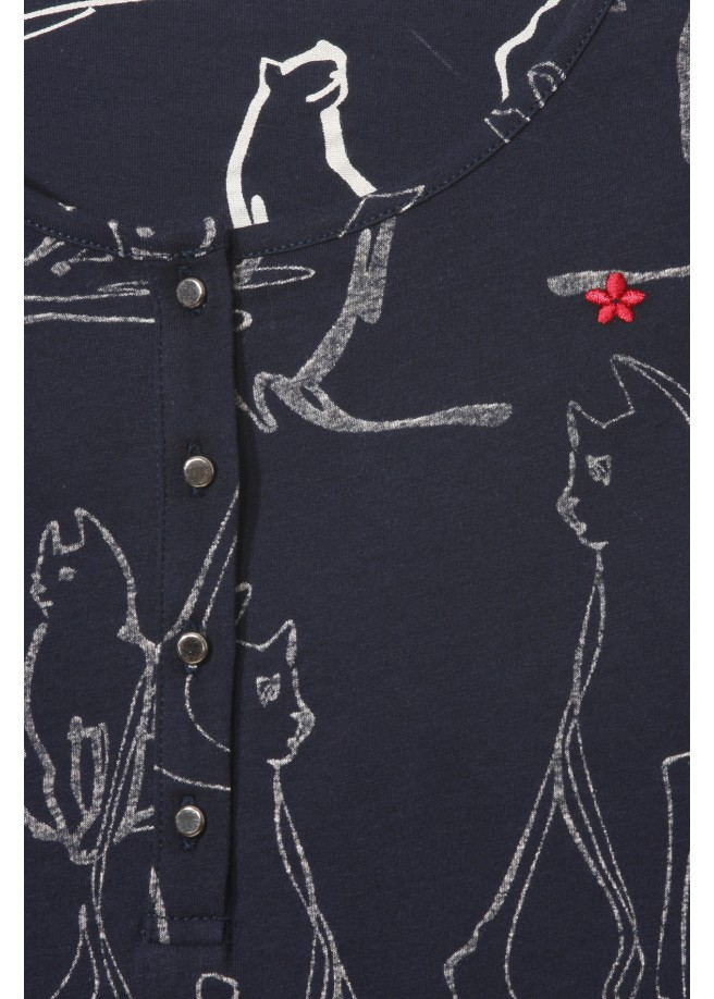 Verspieltes Shirt mit Print /