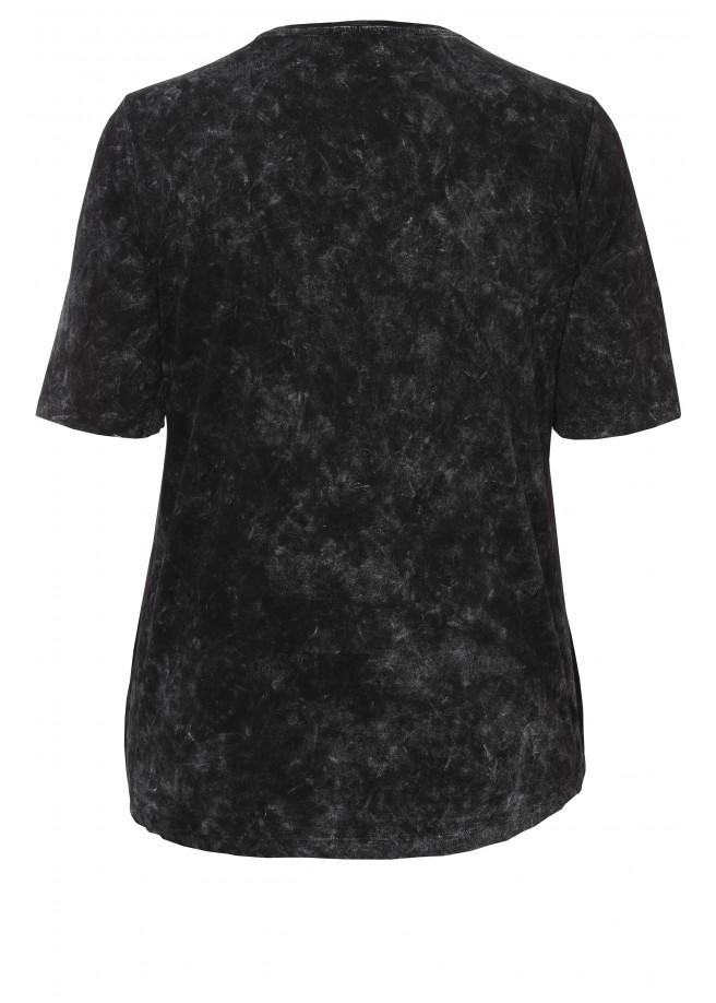Effektvolles Shirt mit Druck und Pailletten /