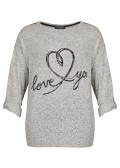 "Verspielter Pullover ""love you"" /"