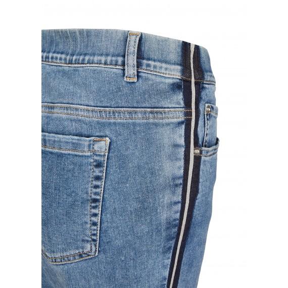 Modische Jeans mit Zierstreifen /