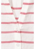 Luftiges Blusen-Shirt mit Ringelmuster /
