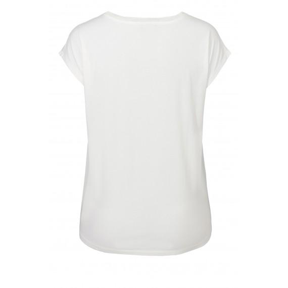 Sommerliches Shirt mit glänzendem Print /