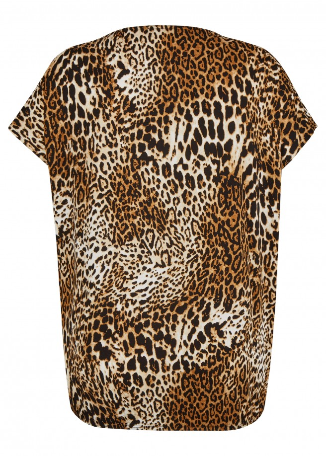 Aufregends Shirt mit Leo-Print /