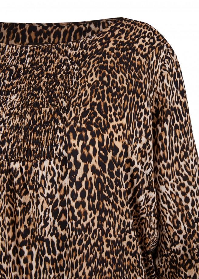 Feminine Bluse im Animal-Stil /