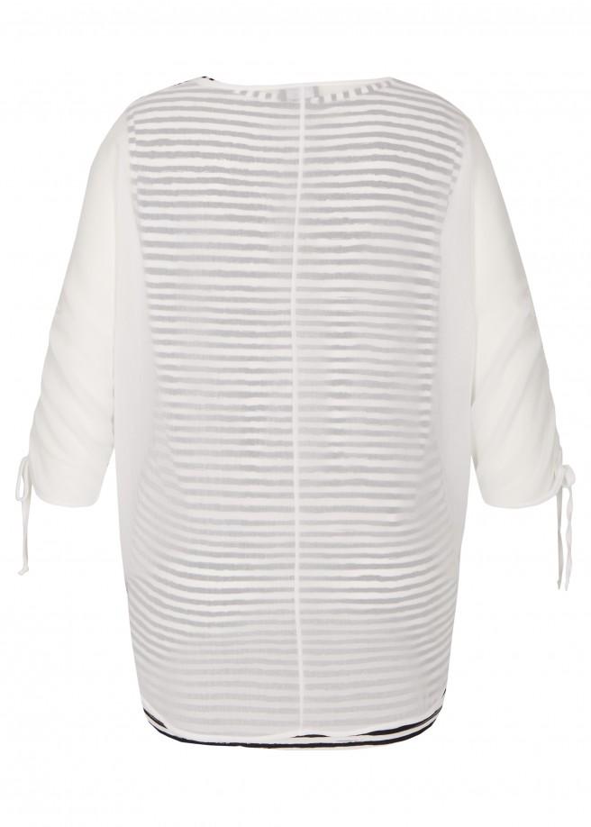 Romantische Bluse im 2-in-1-Design /