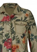 Stylische Jacke mit Blumen-Muster /