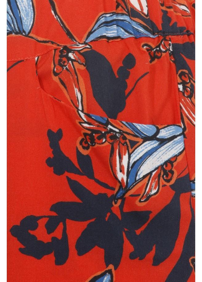 Florale Culotte in 7/8-Länge /