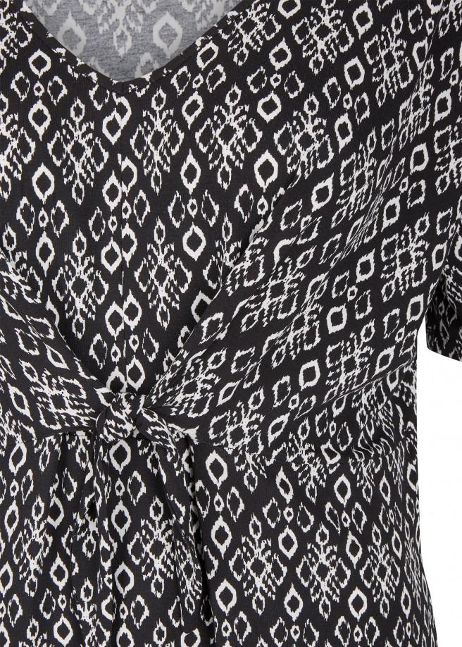 Feminines Kleid mit Printmuster /
