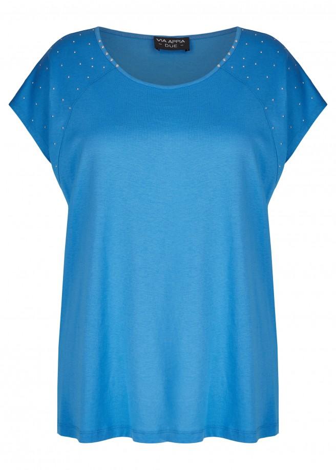 Feminines Shirt mit Ziernieten /