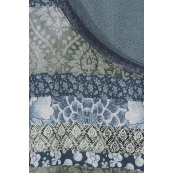 Langarm-Shirt mit Blumen-Ornamente-Druck /