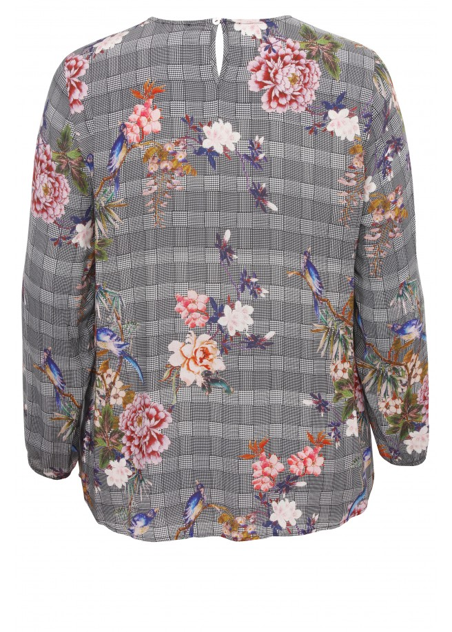 Zartes Blusen-Shirt mit Mustermix /