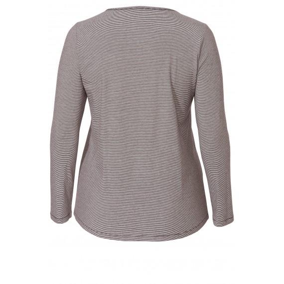 Verspieltes Ringel-Shirt mit Front-Print /