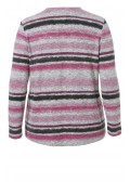 Flauschiger Pullover mit Ringel-Muster /