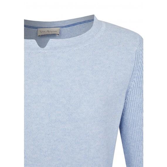 Eleganter Pullover mit Strick-Struktur /