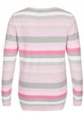 Modischer Pullover mit Ringeln und Struktur /