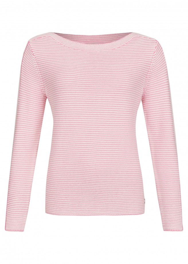 Modischer Pullover mit Streifen /