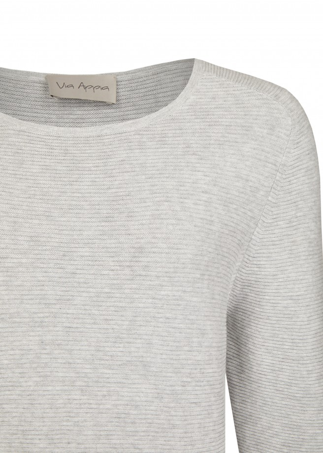 Modischer Pullover mit Kontrast-Säumen /