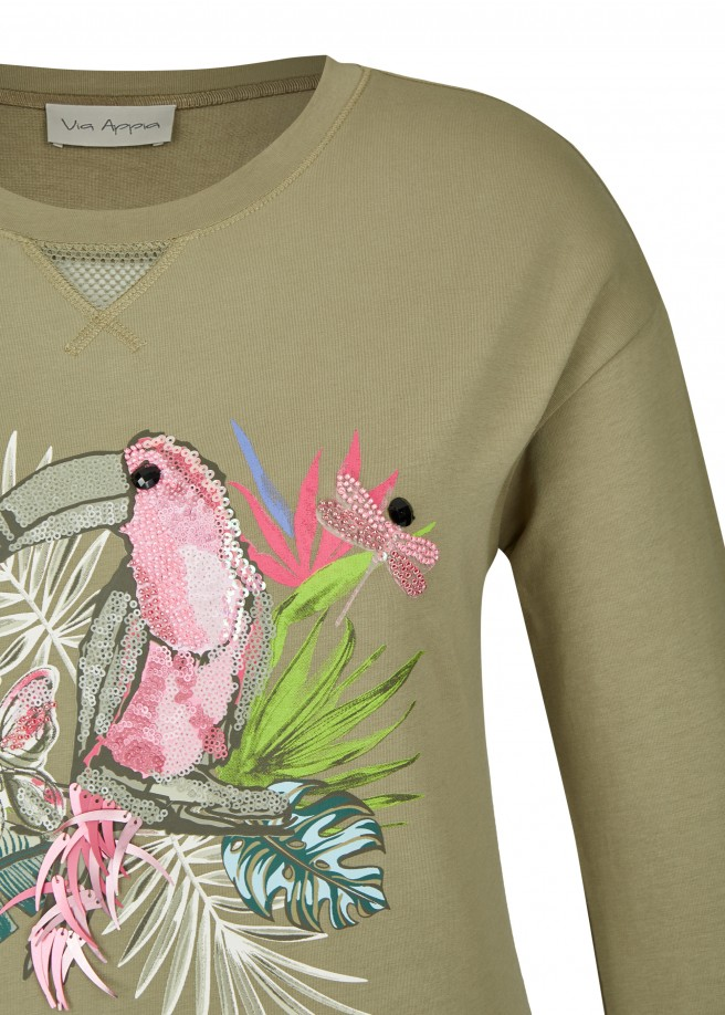 Süßes Sweatshirt mit Front-Motiv /